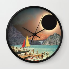 Eclipse Beach Wall Clock