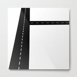 ArtMono Junction Road Metal Print
