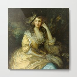 "Thomas Gainsborough ""Frances Susanna, Lady de Dunstanville"" Metal Print"