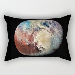 Planet Pluto Deep Space Space Craft Pass By Telescopic Photograph Rectangular Pillow
