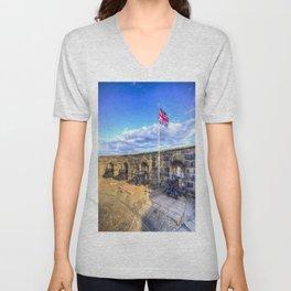 Edinburgh Castle Unisex V-Neck