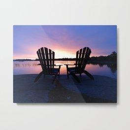Muskoka Sunset Metal Print