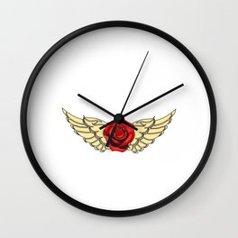 Rock N' Roll Rebel Queen Pure Rock Wanted And Will tee design for you! Guns and roses are in again!  Wall Clock