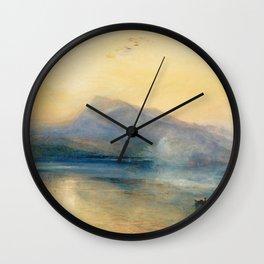 "J.M.W. Turner ""The Dark Rigi, the Lake of Lucerne, Showing the Rigi at Sunrise"" Wall Clock"