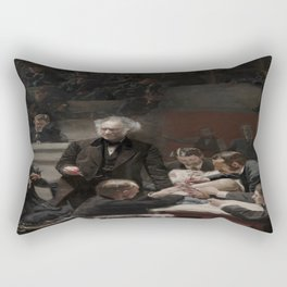 Thomas Eakins's Portrait of Dr. Samuel D. Gross (The Gross Clinic) Rectangular Pillow