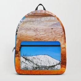 USA Grand Prismatic Spring 4k Yellowstone National Park american landmarks hot springs America Backpack