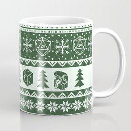 "Roll for Initiative Fair Isle in ""Evergreen"" Coffee Mug"