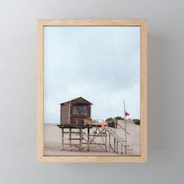 Lifeguard's cabin Framed Mini Art Print