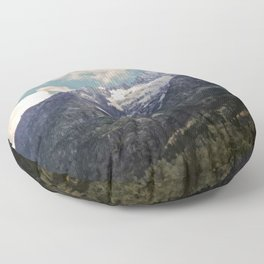 Pikes Peak Digital Painting Floor Pillow