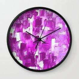 Magenta-licious strokes Wall Clock