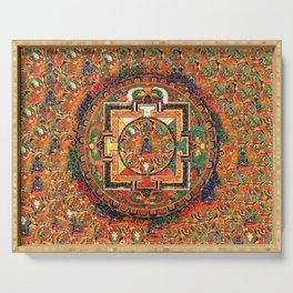 Buddhist Kalachakra Mandala DMT Vision Serving Tray