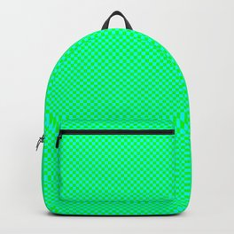 Green and cyan squares Backpack
