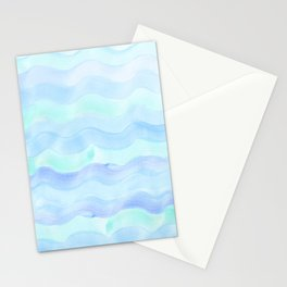 Water Color Ocean Wave Aqua Stationery Cards