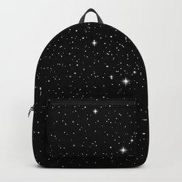Black galaxy stars Backpack