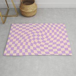 Check V - Lilac Twist — Checkerboard Print Rug