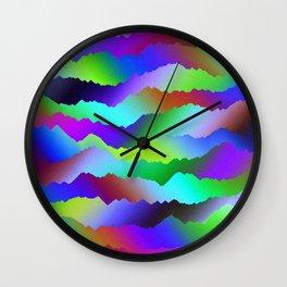 Ripped Paper Retro Wall Clock