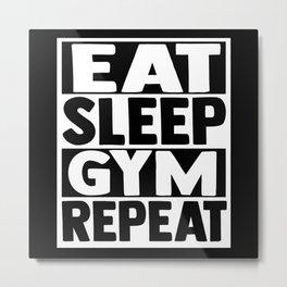 Gym Motivation Metal Print