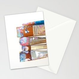 Five Paintbrushes Minimalist Photography Stationery Cards