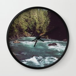 Pacific Northwest Wilderness Wall Clock