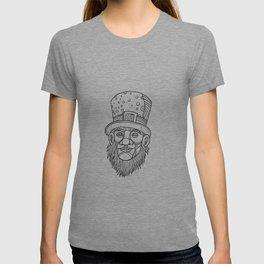 Irish Leprechaun Mono Line T-shirt