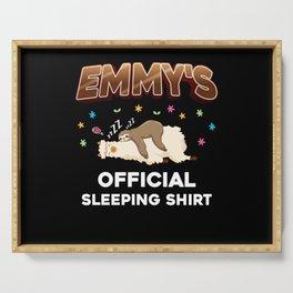 Emmy Name Gift Sleeping Shirt Sleep Napping Serving Tray