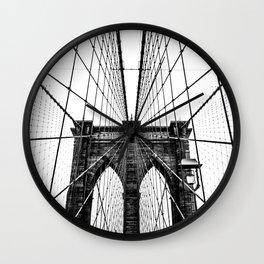 Brooklyn Bridge Web Wall Clock