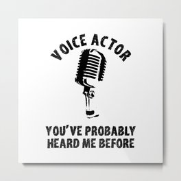 Voice Actor Synchronizer Speaker Synchro Metal Print