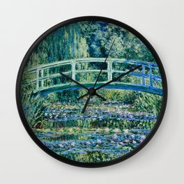 Claude Monet - Water Lilies And Japanese Bridge Wall Clock