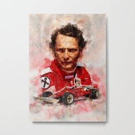 Niki Lauda Metal Print