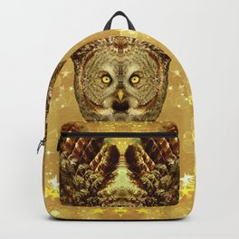 Golden Great Grey Owl Backpack