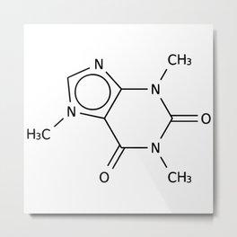 Molecular Structure of Caffeine Metal Print