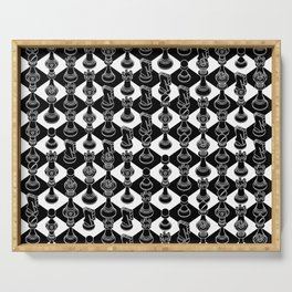 Isometric Chess BLACK Serving Tray