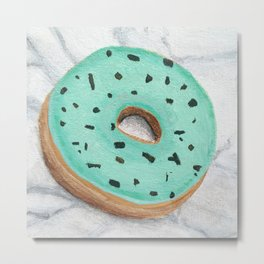 Mint chip donut  Metal Print
