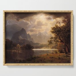 Estes Park Colorado 1869 By Albert Bierstadt | Reproduction Painting Serving Tray
