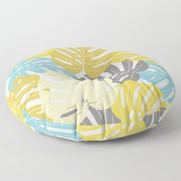 Colourful tropical leaves Floor Pillow