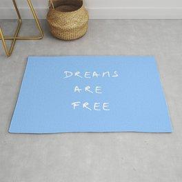 Dreams are free 3- blue Rug