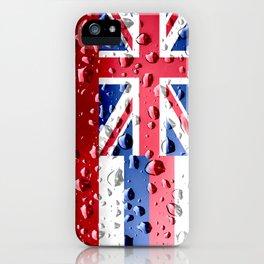 Flag of Hawaii - Raindrops iPhone Case