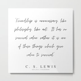 6    | 200320 |  C.S Lewis Quotes Metal Print