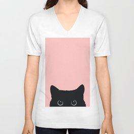 Black Cat Unisex V-Ausschnitt