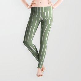 Boho Wall Art, Colour Prints, Sage Green, Line Art Leggings