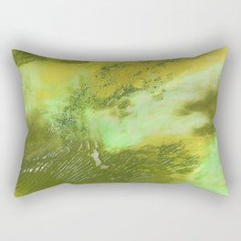 Peridot Abstract Acrylic from 52 Facets Zine Rectangular Pillow