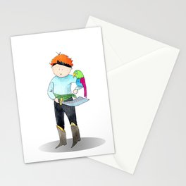Red haired pirate | watercolor portrait Stationery Cards