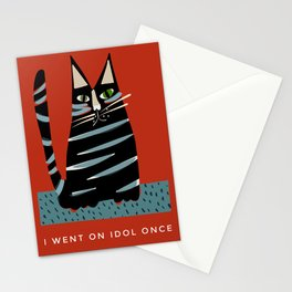 Tabby cat- with funny caption Stationery Cards