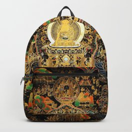 Buddha Life Autumn Gold Thangka Backpack