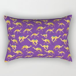 Camels running pattern on the background of the moon Rectangular Pillow