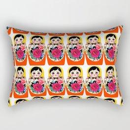 Babushka ya ya red Rectangular Pillow