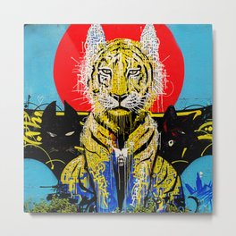 Tiger Wall Metal Print