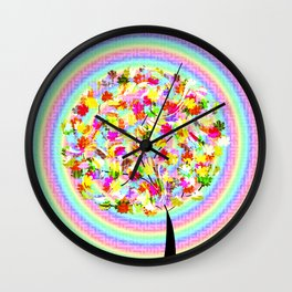 The little tree and the colorful spiral Wall Clock
