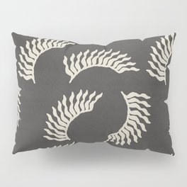 When the leaves become wings - Gray and beige Pillow Sham