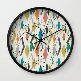 Retro Diamonds - Mrs. Hand's Rad Pad Pattern Collection Wall Clock